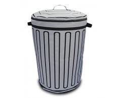 FISURA HM0044 - Cesto para ropa sucia, diseño Trash, color gris