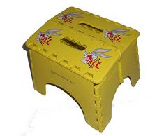 Protenrop 2946229 - Taburete plegable, diseño looney tunes, 28,5 x 25,5 x 21 cm, color amarillo