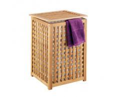 Zeller 13438 - Cesto para la colada, 40 x 40 x 58 cm, bambú, color natural