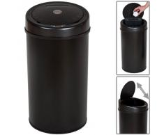 TecTake 50 litros Papelera Cubo Basura Sanitario con sensor de apertura negro