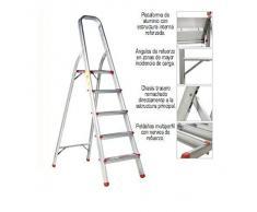 ORYX 23010001 Escalera Aluminio Oryx 3 Peldaños Doméstica