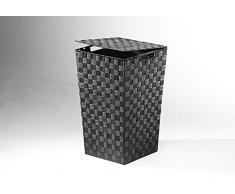 Rattan im Trend - Cesto para la colada (nailon), color negro