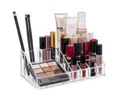 TRESKO® Cosméticos Organizador acrílico para Maquillaje, Joyas, Accesorios, joyero, Caja de Almacenamiento con cajones para pintalabios (3 Cajones)