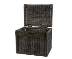 Cesta con tapa ratán color Royal Negro, estantería cesta, caja - Gastos de Envío libre en de