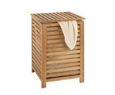 Wenko 18620100 Norway - Cesto para la colada de madera de nogal (45 x 65 x 45 cm)