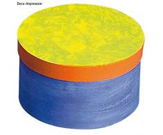 Rayher 71741000 pappmachã © Caja 100% Reciclado FSC, Redonda, 8 cm de Altura,
