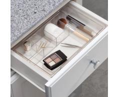 InterDesign Clarity Organizador de cajones expandible de plástico para tocador, baño, Cocina, Almacenamiento de Escritorio, Extends up to 18.5 Inches