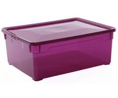 Rotho Sundis 7084023 caja de plástico para almacenamiento morado jersey, 40 x 33,5 x 17 cm