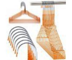 Hangerworld - Perchas De Metal, Acabado Galvanizado Naranja, 40.5 cm, 100 Unidades