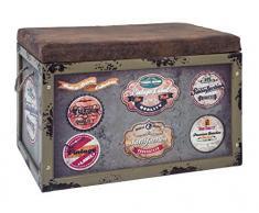 Funda de asiento de baúl de Adventure de la vendimia del-colour marrón, Vintage, 65x42x40 cm