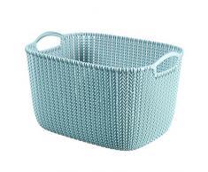 CURVER 3253923970036 Caja y Cesta de almacenaje - Cajas y cestas de almacenaje (Storage Basket, Azul, Prendas de Punto, Monótono, Rectangular, Interior)