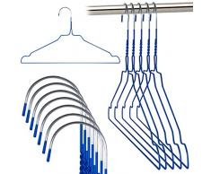 Hangerworld - Perchas De Metal, Color Azul, 40 cm, 20 Unidades