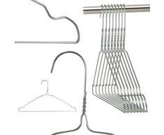 Hangerworld - Perchas De Metal Con Muescas, Color Plateado, 40 cm, 100 Unidades