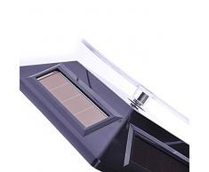 niceeshop(TM) Escaparate Mini, Soporte De Exhibición De Teléfono Y Joyas De Placa Giratoria De Rotación De Energía Solar (Negro)