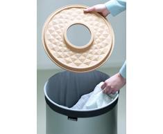 Brabantia - Cesto para ropa, 60 l, tapa de corcho, cuerpo menta
