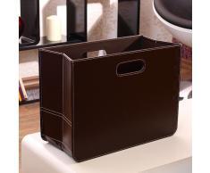 Diseño Revistero Canasto diarios Caja para diarios marrón