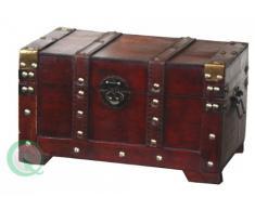 Estilo de madera antigua de pequeño baúl