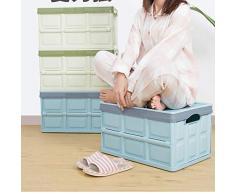 ZHANGQIANG cesto para la Colada Laundry Basket Caja Y Tapa De Almacenamiento De Plástico Apilables/para Almacenamiento En La Parte Inferior, Taburete De Almacenamiento En El Gabinete