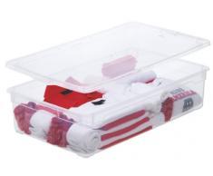 Rotho 4047094094 Clearbox - Caja de Almacenaje con Tapa 30 L, transparente - Aplicación Appmybox