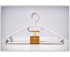 Spetebo - Lote de perchas (50 unidades, antideslizante, con colgador para corbatas o cinturones), color blanco