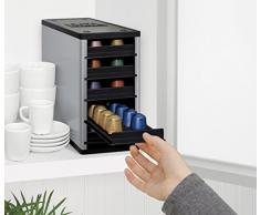 Cafe Stack - Armario organizador para cápsulas de café (60 cápsulas), color plateado