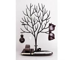 Joyas pantalla/soporte/Holder -- Sika ciervos árbol joyas soporte organizador de joyas para anillos collar cumpleaños regalos de Navidad Joyas Stand Rack de almacenamiento, negro, large