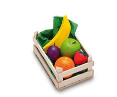 Erzi surtido de frutas caja de madera, pequeños, comida de juguete, Accesorios Tienda