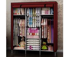 Capacidad máxima de extra grueso reforzado varias capas de tela no tejida armario ropero