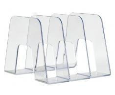 Han 16200-23 Sorter - Revistero vertical (extra-resistente, 3 compartimentos, acabado brillante), color transparente