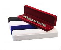JUNGEN® Estuche de joyería de Franela para Pulsera, Organizador de Joyerías, Collar Joyería Caja de Almacenamiento Boda Regalo (Rojo)