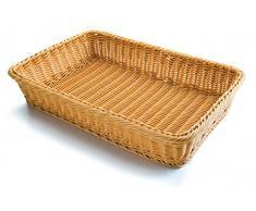 Lacor 63490 - Cesta de pan rectangular, 53 x 33,5 x 9 cm