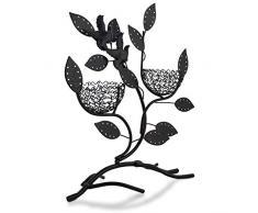 """Soporte de joyería """"Nidos con nidos"""" - Negro 32 x 30 x 11 cm - Marco para almacenamiento de joyas y presentación - Grinscard"""