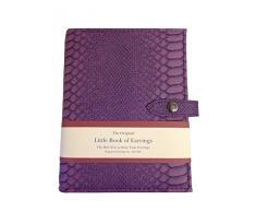 Little Book Of Earrings - Organizador de joyas para armario - Caja de joyería Pendientes - Púrpura cocodrilo