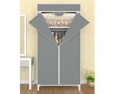 Haga clic en de los armarios combinación de tela simple zip , armario ropero tela Oxford 60*43*150cm dimensiones: