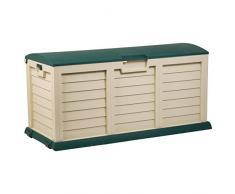 Catral 63010001 - Baúl grande, 140 x 61 x 69 cm, color verde y beige