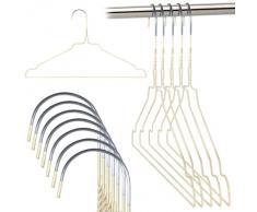 Hangerworld 50 Perchas 40cm Metal Blanco Galvanizado Ahorra Espacio Camisas Muescas para Tirantes