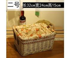 TIANLIANG04 almacenamiento del bastidor del canasto cesta de ratán tejido cuadro pequeño escritorio cesta cesta de almacenamiento snack tejido bambú escombros dos,No.