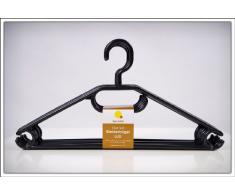 Spetebo - Lote de perchas (20 unidades, antideslizante, con colgador para corbatas o cinturones), color negro