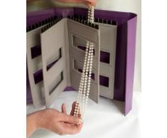 Little Book Of Necklaces - Organizador de joyas para armario - Caja de joyería collares - Silver