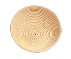 Hecho a mano de ratán natural redonda cesta pan pan de almacenamiento cesta de fermentación pruebas cuenco, Medium