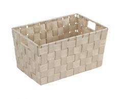 Wenko Adria - Cesta para el baño y el hogar, de tamaño S, 30 x 15 x 20 cm, color beige