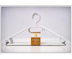 Weber - Set de 50 perchas (plástico, con estrías antideslizantes), color blanco