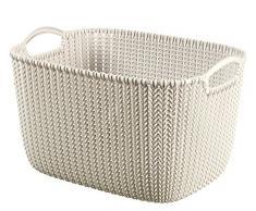 CURVER 3253923970029 Caja y Cesta de almacenaje - Cajas y cestas de almacenaje (Storage Basket, Color Blanco, Prendas de Punto, Monótono, Rectangular, Interior)