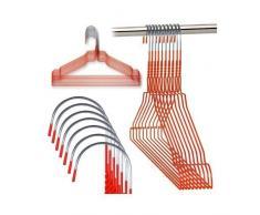Hangerworld - Perchas De Metal, Acabado Galvanizado Rojo, 40.5 cm, 50 Unidades