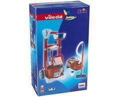 Vileda - Carro de limpieza y aspiradora de juguete (Theo Klein 6742)