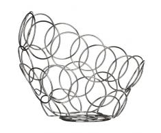 Premier Housewares - Frutero, diseño de círculos, color cromado