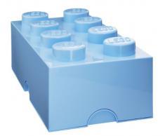 Lego 40041736 - Caja de almacenamiento con forma de pieza Lego gigante, color azul claro [importado de Alemania]