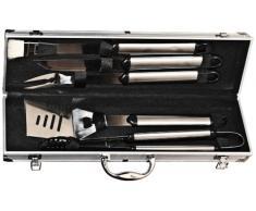 El Fuego AY0332 - Juego de cubertería (5 piezas, incluye caja de aluminio)