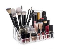 TRESKO® Cosméticos Organizador acrílico para Maquillaje, Joyas, Accesorios, joyero, Caja de Almacenamiento con cajones para pintalabios (4 Cajones)