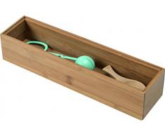 Cie RAN6963 se pueden apilar caja de almacenaje de bambú 30 x 7,5 x 2,5 cm